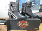 NEW Harley Davidson Womens Leather Boots Shoes Medium Black Marie
