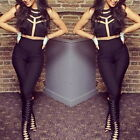 Sexy HOT! Woman Lady Bodycon Jumpsuit Net Party Club Fashion New Black M2911
