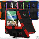 HTC Desire 320 Shock Proof Dual Layer Kick Stand Builders Phone Case