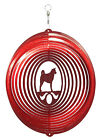 SWEN Products AKITA Dog Circle Swirly Metal Wind Spinner