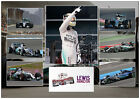 LEWIS HAMILTON MERCEDES SIGNED FORMULA 1 MATTED MOTOR RACING PHOTOGRAPH