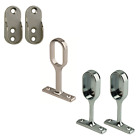 Oval Wardrobe Hanging Rail Fittings Tube Clothes End Centre Brackets Chrome