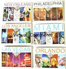 Brookstone City POPOUT Maps Map Miami Orlando Philly Las Vegas Orleans 2 Pack