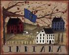 ART PRINT, FRAMED OR PLAQUE - BY PAT FISCHER - INDIANA - PAT100-R