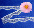 """6 Yards Lace Trim White 1/2"""" Scalloped J59AV Added Items Ship No Charge"""