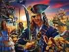 SPECIAL!! THE PIRATE Ship Gold Sword Glow In Dark 100 Pieces BOXLESS Puzzle NEW