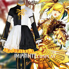 Vocaloid Kagamine Rin Nuclear Fusion Dress Cosplay Costume Full Set FREE P&P