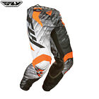 fly 2015 kinetic glitch motocross enduro quad pants orange grey