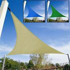 TRIANGLE SUN SHADE SAIL GARDEN PATIO PARTY SUNSCREEN AWNING CANOPY WITH CORDS
