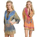 2015 Summer Beach Dress Women Pattern Vintage Print Loose Sexy Club Party Dress