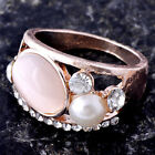 Nice Womens Gift White Gold Filled Opal CZ Opal Ring Size  6,7.5,9#H0330-H0332