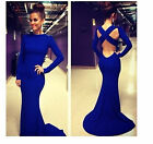 Sexy Women Mermaid Trumpet Bandage Prom Ball Cocktail Party Dress Evening Gown