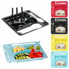 Kids Hard Plastic Reusable Disposable School Home Dinner Meal Tray & Cutlery Set