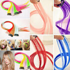 Clip On In Colorful Straight Hair Toupee Highlight Hair Extension Hair Pieces