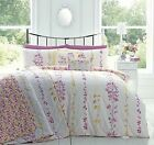 Appletree® FLORAL REVERSIBLE DUVET COVERS QUILT SET COTTON RONIN PINK YELLOW