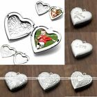 1pc Silver Plated Heart Love Picture Photo Frame Locket Pendant For Necklace DIY