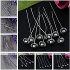 Wholesale Silvery Ball/T Flat/Flower Top Head Pins Findings Jewellery Craft DIY