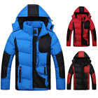 FREE POST Men'S Winter Hooded Warm Zip Padded Coat Thick Jacket Outwear Overcoat