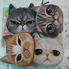 2015 New Style Children Lovely Canvas Cat Face Zipper Case Coin Purse Wallets