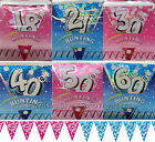 13ft Sparkly Foil Birthday Bunting Strung Pennant Flag Banner Party Decorations