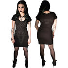 Women's Kreepsville 666 Black Magic Pentagram Tunic Dress Gothic Horror Fashion