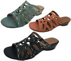Ladies Shoes SOA Grazia Wedge Slip Sandals With Stitched Detail Size 5-11