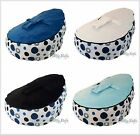 NEW Baby Kids Portable Bean Bag Seat - DARK BLUE BUBBLEBURSTS - ACCC approved