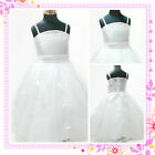 Whites Communion Pageant Flower Girls Party Dresses AGE 1-2-3-4-5-6-7-8-10-12Y