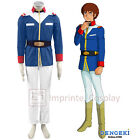 Mobile Suit Gundam 0079 Earth Federation Soldier Uniform Cosplay Costume FREE PP