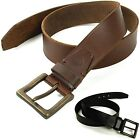 Timberland Mens Belt Genuine Leather Classic Casual Bronze Metal Buckle Sz 32-42