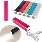 2600mAh Flashlight Protable Externe Batterie Chargeur Power Bank w/V8 USB Câble