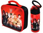OFFICIAL WWE WRESTLING INSULATED LUNCH BAG TRITAN BOTTLE SCHOOL KIDS GIFT XMAS