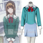 Bakuman Miho Azuki Girls School Uniform Cosplay Costume Full Set FREE P&P