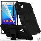Sony Xperia M4 Aqua Shock Proof Dual Layer Kick Stand Builders Phone Case