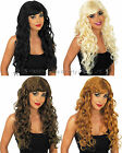 Temptress Sexy Long Glamour Wig Curly Wavy 60s 70s 80s 90s Ladies Fancy Dress