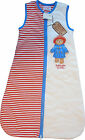 Paddington For Baby Sleeping Bag Cream Red Blue Baby Unisex 0-6 6-12 Months