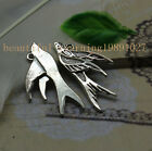 Free shipping 15/45pcs Retro Style alloy lovely swallow Charms Pendants