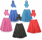 22 inch STAR ROCK AND ROLL 50s Full Circle Skirt & Scarf Set with Underskirts