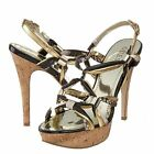 Guess Womens Knotted 2 Slip On Open Toe Ankle Strap Platforms Sandals Heels
