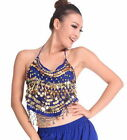 Belly dancer wear Top  Straps Butterfly Sequin Sexy  Performance Bra Costumes