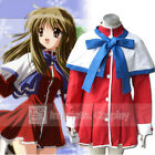 Kanon Girls School Uniform Blue Cape Cosplay Costume Full Set FREE P&P