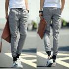 New Mens Casual Slim Fit Harem Pant Trousers Solid Jogger Training Feet Pants