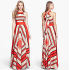 Womens Bohemia Chiffon Summer Ladies Boho Maxi Dress Cocktail Dress Green Red