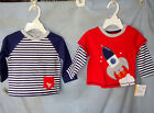 LITTLE ME 100% Cotton 2 pack SPACE SHIP Long Sleeve Tee Shirts BOY SIZES NWT