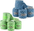 4er Set ESKADRON Fleecebandagen Dots Lollipop in blue & apple