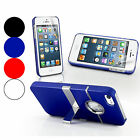 CHROME STAND CASE COVER FOR APPLE IPHONE 5 IPHONE 5S WITH FREE SCREEN PROTECTOR