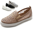 Ollio Womens Shoes Slip on Sneaker Lace Flats