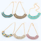 HOT Vintage Charm Jewelry Crystal Chunky Choke Statement Pendant Chain Necklace