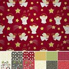 LEWIS AND IRENE NEW FOR 2015 A LITTLE CHRISTMAS STAR PATCHWORK CRAFT FAT QUARTER