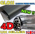 4D GLOSS【300mm x 1520mm AIR Free Carbon Fibre Vinyl】Wrap Textured for CAR
